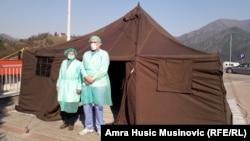 Trijažni šator u Konjicu u Bosni i Hercegovini