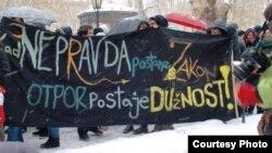 Протести против АКТА во Загреб.