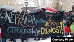 Пратэст супраць дамовы ў Харватыі