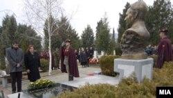 Одбележување на осумгодишнината од смртта на претседателот Борис Трајковски во Скопје.