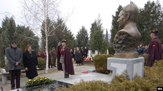 Obeležavanje osme godišnjice smrti Borisa Trajkovskog, Skoplje, februar 2012.
