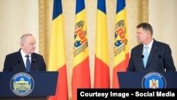 Președinții Nicolae Timofti și Klaus Iohannis.