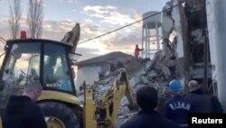 Наступствы землятрусу ў Тыране