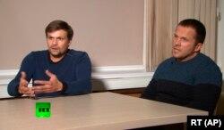 «Руслан Боширов» і «Олександр Петров» під час інтерв'ю для російського Russia Today