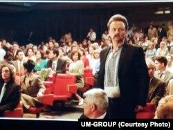 На зйомках сцени у кінотеатрі «Україна»