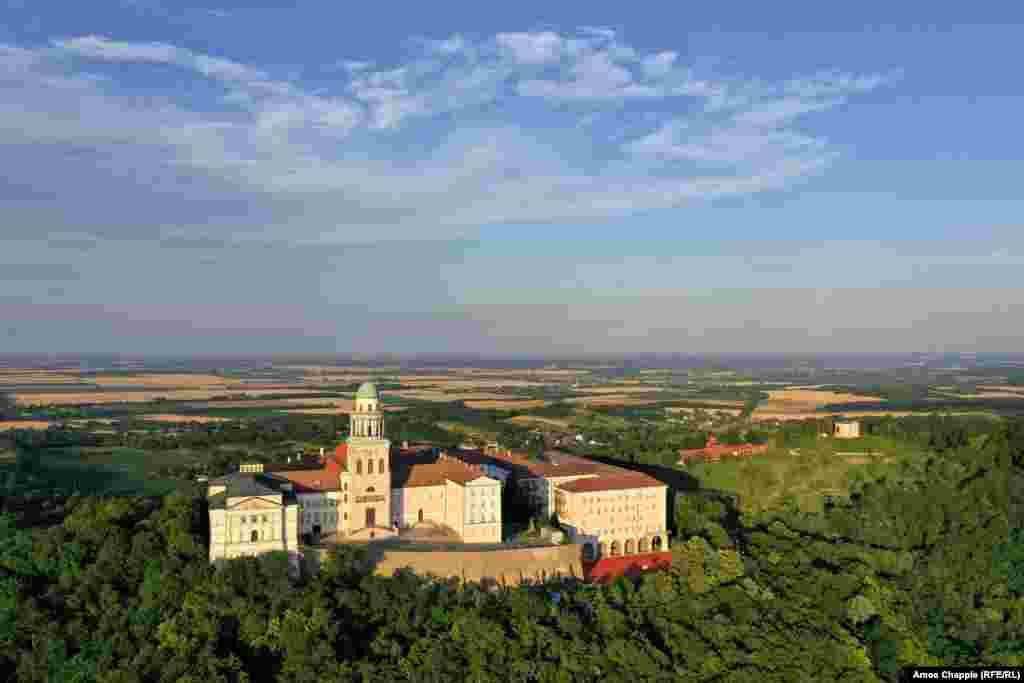 Pannonhalma Archabbey sits on a hilltop near the western city of Gyor. The monastery, which was built in 996, has some 50 monks living on the site.