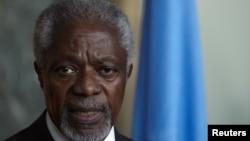 БҰҰ мен Араб лигасының Сирия бойынша арнайы өкілі Кофи Аннан. Женева, 16 наурыз 2012 жыл.