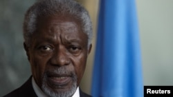 Кофи Анан, претставникот на ОН и Арпаската лига за Сирија