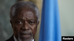Joint special envoy on Syria for the United Nations and the Arab League Kofi Annan.