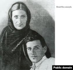 Rəsul Rza anası Məryəm xanımla