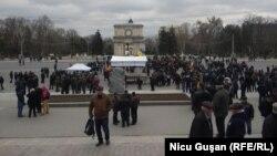 Chișinău, 2 martie 2020, în timpul zilei.