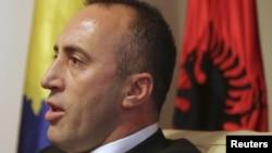 Поранешниот командант на Ослободителната војска на Косово и претседател на Алијансата за иднина на Косово, Рамуш Харадинај.