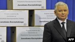 Кандидат на пост президента Польщі, лідер польських консерваторів Ярослав Качинський