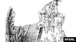 Призыв в армию. Карикатура Михаила Златковского, 2010