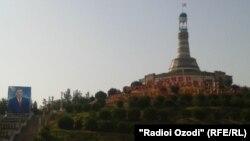 Часть таджикского города Курган-Тюбе.