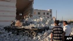 Suriyada dağıdılmış məscid