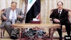 لقاء بين طالباني وبارزاني - من الارشيف