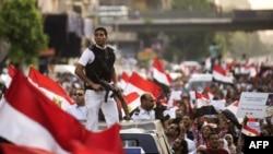 Imaginile de la demonstrațiile anti-Morsi de duminică la Cairo