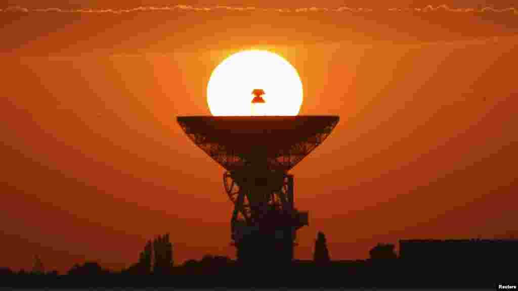 Радар на фоне заката, июнь 2018 года