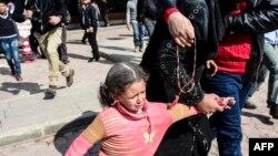Prizor nakon napada na bolnicu, Sirija, 15. februar 2016.