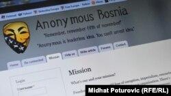 Anonim qrupu elan edir ki, Bosniyanın bütün nazirliklərinin saytlarını sıradan çıxardacaq