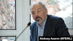 Председатель Союза театральных деятелей Казахстана актер Тунгышбай Жаманкулов. Алматы, 17 февраля 2015 года.