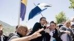 Premijer Srbije Aleksandar Vučić tokom napada u Potočarima