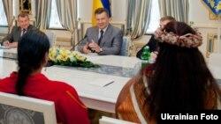 Віктор Янукович провів зустріч з лідерами американських індіанських племен, Київ, 26 червня 2013 року