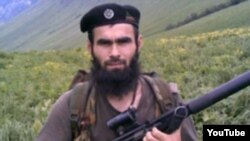 A YouTube screen grab of dissident Chechen commander Khusayn Gakayev