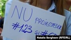 La acțiunea de protest de duminică la Chișinău