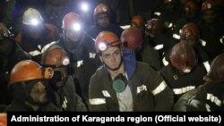 Гірники в шахтах «АрселорМіттал Теміртау» під час страйку