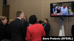 Izborni doručak u Ambasadi SAD u Podgorici, premijer Igor Lukšić i ambasadorka Su Kej Braun