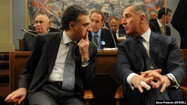 Filip Vujanović i Milo Đukanović