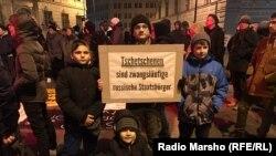 Австри -- МухIажаршна депортацеш ярна дуьхьал акци. Вена.