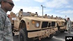"""Қырғызстанның """"Манас"""" әуе базасындағы АҚШ әскерлері. 6 наурыз 2010 жыл."""