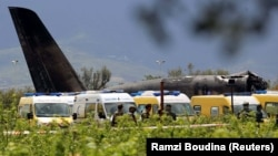 The plane crashed minutes after taking off from Boufarik military airport.