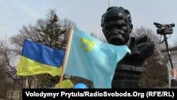 Празднование 200-летия Тараса Шевченко в Симферополе. 9 марта