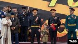 Рамзан Кадыраў у Грозным. 9 траўня 2015
