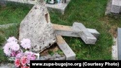 Vandalizam na katoličkom groblju u Sultanovićima, foto: www.zupa-bugojno.org