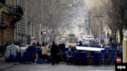 Барикада у Львові, 20 лютого 2014 року