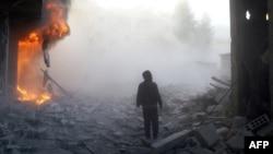 Эпизод войны, пригород Дамаска, 8 декабря 2015