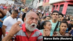 اعتراض به کمبود غذا در کاراکاس در ونزوئلا