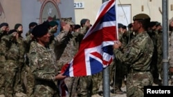 London has announced that it is sending 75 military personnel to Ukraine to help Lyiv train its army. (file photo)