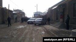 Հայաստան, Գյումրի - Մյասնիկյան փողոցի այն հատվածը, որտեղ տեղի են ունեցել ողբերգական իրադարձությունները, 12-ը հունվարի, 2015թ․