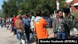 Izbeglice u Preševu, septembar 2015.