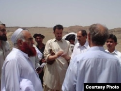Pakistani journalist Hayatullah Khan at work in North Waziristan in 2005 shortly before he was abducted and killed.