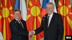 Средба на претседателот Ѓорѓе Иванов со неговиот чешки колега Милош Земан.