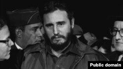 Фидель Кастро во время визита в Вашингтон. 1959 год.