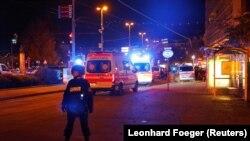 Полиция заблокировала центральную часть Вены. 2 ноября 2020 г.
