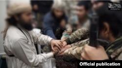 """Боевики запрещеной группировки """"Исламскоео государство"""" в Афганистане (фото из архива)"""